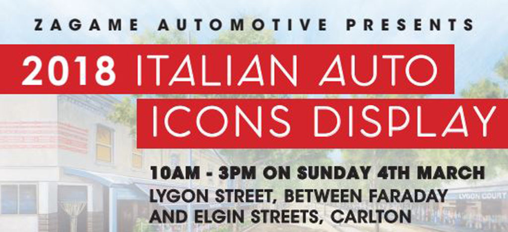 Italian Auto Icons @ Tiamos Coffee Restaurant 4 March